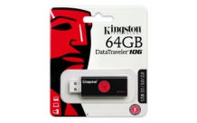 KINGSTON 64GB USB DATATRAVELER 106 FLASH DRIVE